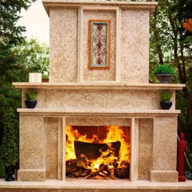Fireplace 3| B. Rocke Landscaping | Winnipeg, Manitoba