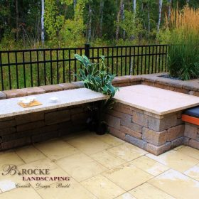 B. Rocke Landscaping - Winnipeg Landscaping - Outdoor Kitchens - slate counter (10)