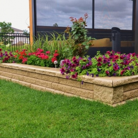Planter Retaining Wall 3 | B. Rocke Landscaping | Winnipeg, Manitoba