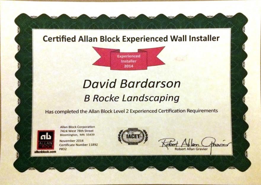 Dave Certified | B. Rocke Landscaping | Winnipeg, Manitoba