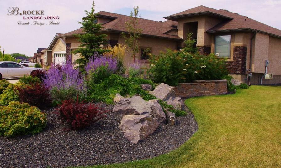 Black Granite Rock Garden
