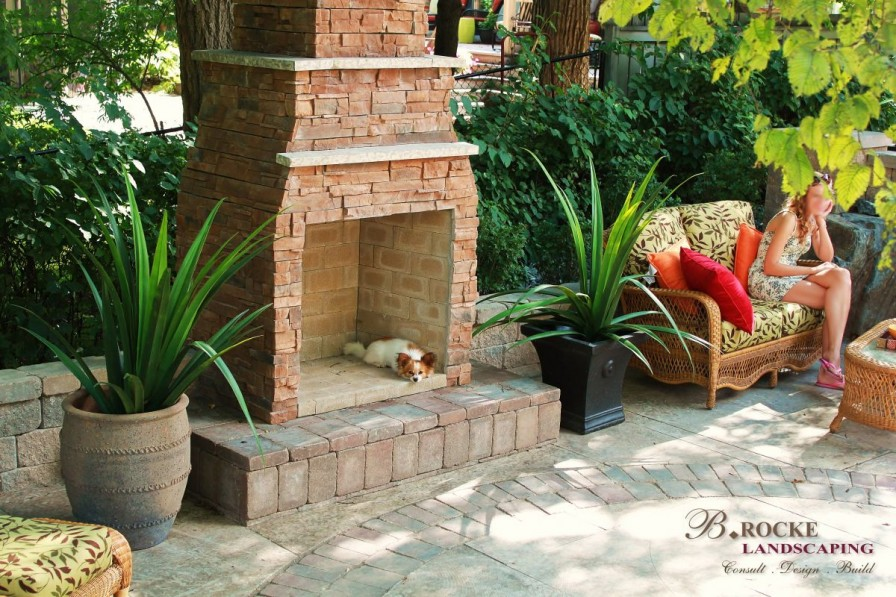Custom Fireplace | B. Rocke Landscaping | Winnipeg, Manitoba