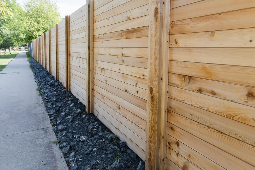 Cedar Privacy Fence | B. Rocke Landscaping | Winnipeg, Manitoba