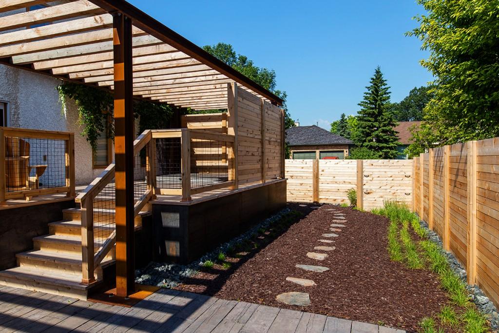 Steel Pergola | B. Rocke Landscaping | Winnipeg, Manitoba