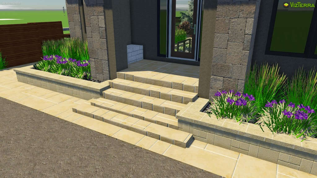 Virtual Sandstone Steps | B. Rocke Landscaping | Winnipeg, Manitoba