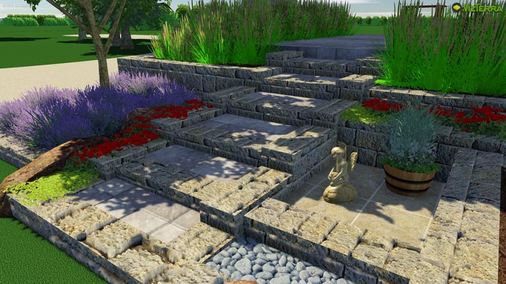 Virtual Allan Block Steps | B. Rocke Landscaping | Winnipeg, Manitoba