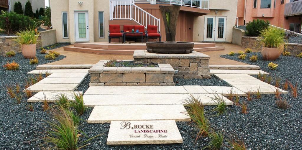 Design Trends | Slab Walkway | Tyndall Stone | B. Rocke Landscaping | Winnipeg, Manitoba