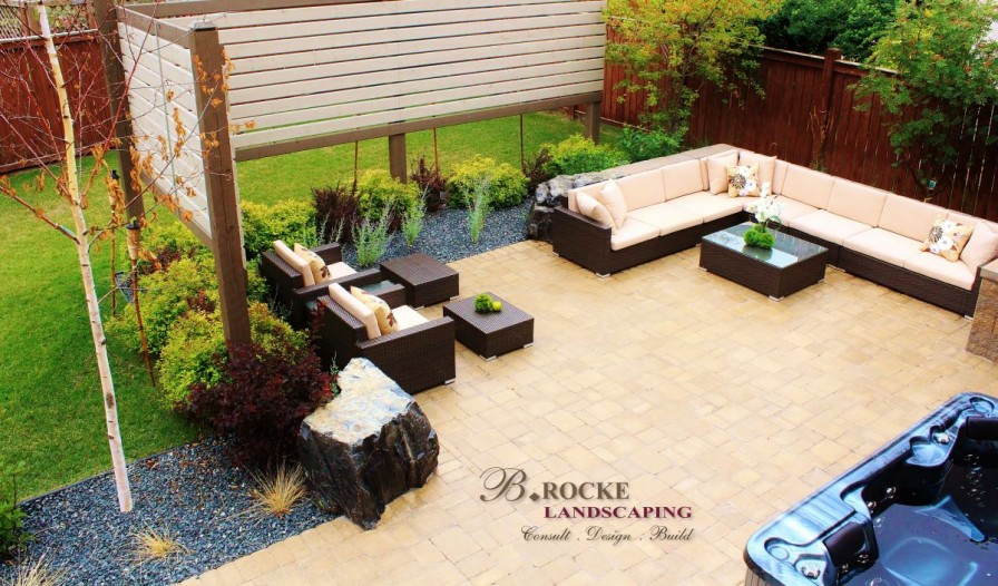 Square Patio | Roman Paver | B. Rocke Landscaping | Winnipeg, Manitoba