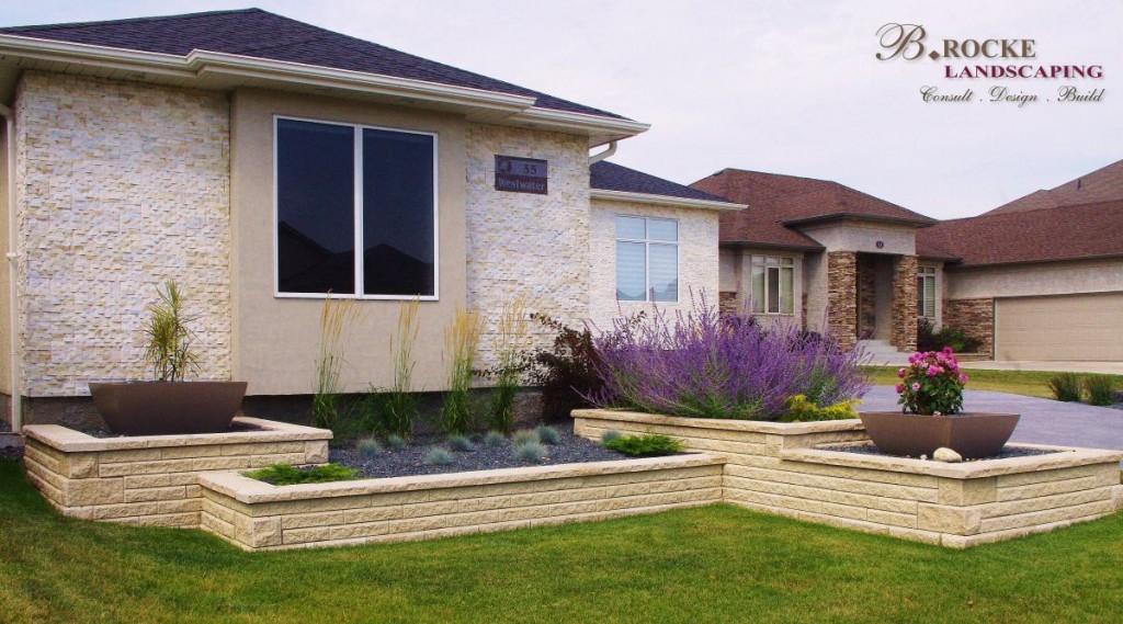 Design Trends | Square Retaining Walls| AB Stone | B. Rocke Landscaping | Winnipeg, Manitoba
