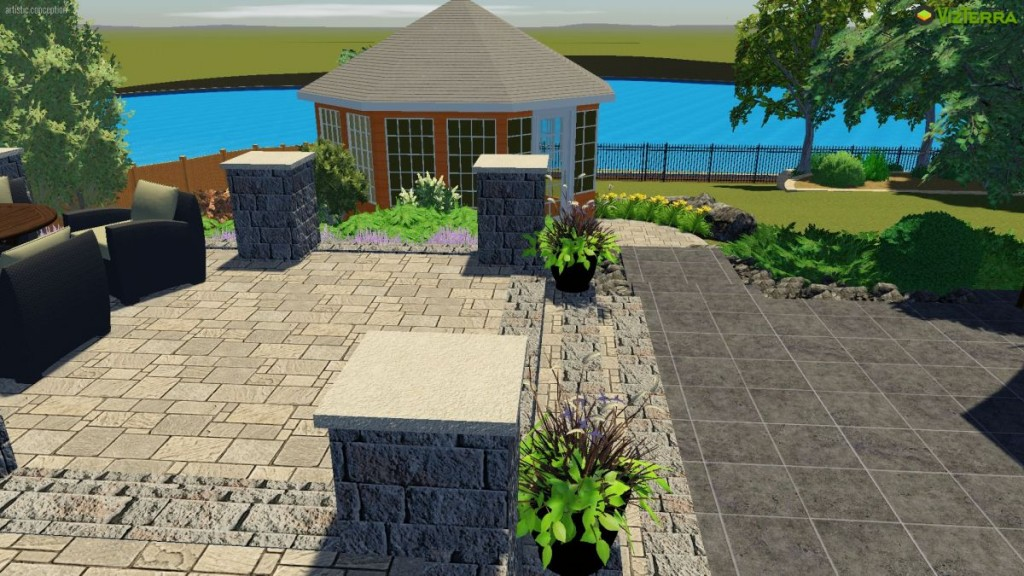 Dining Patio Rendering | B. Rocke Landscaping | Winnipeg, Manitoba
